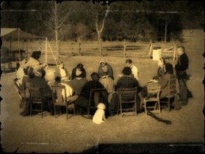 Church service at Camp Milton