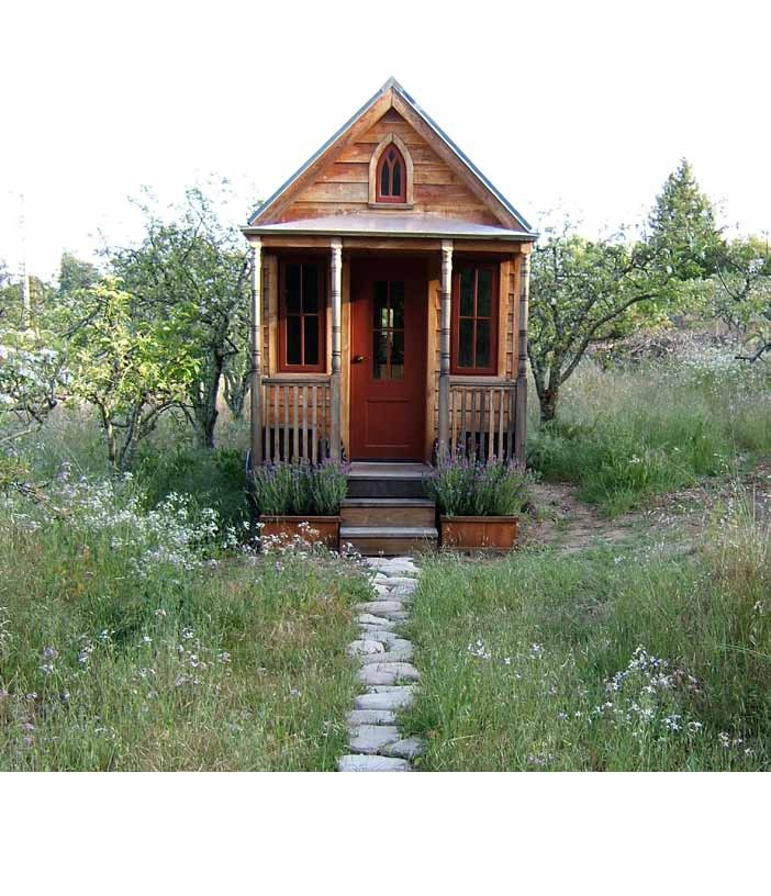 to a victorian tiny house on wheels Shortys Tiny House The
